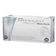 Перчатки нитриловые текстурированные неопудренные SafeTouch Platinum White