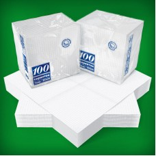 Салфетки белые 25Х25 1-слой, 100 шт