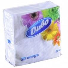 Салфетки бумажные Диво, 240х250мм, 50шт, белые