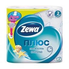 Туалетная бумага Zewa Плюс Свежесть океана