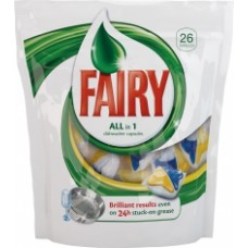 FAIRY All in 1 Засоби для миття посуду в капсулах для автоматических посудомийних машин 26шт 26шт