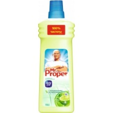 MR PROPER Рідк. миюч. засіб для прибирання підлоги та стін Бодрящий лайм и мята 750мл 750мл